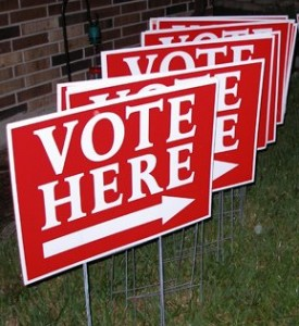 vote here signs 275x300 Two Kinds of Voters
