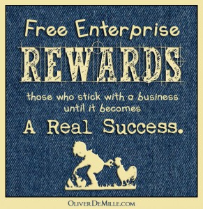 A missing piece of entrepreneurship-Free enterprise rewards